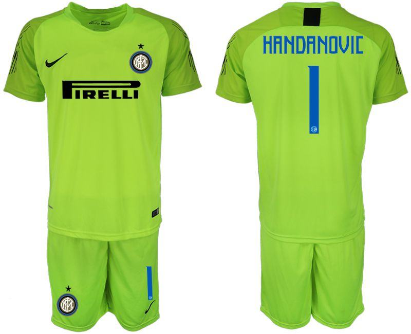 Men 2018-2019 club Inter Milan fluorescent green goalkeeper 1 soccer jersey1