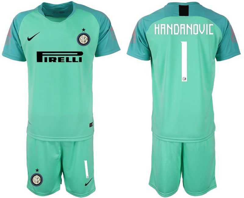 Men 2018-2019 club Inter Milan green goalkeeper 1 soccer jersey