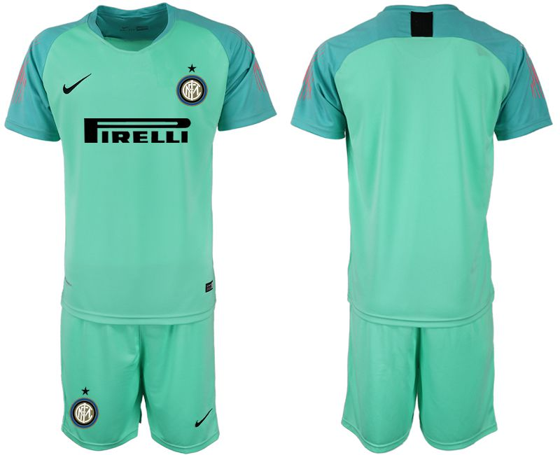 Men 2018-2019 club Inter Milan green goalkeeper soccer jersey