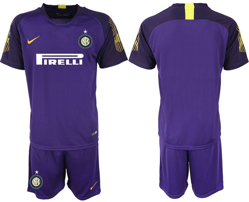 Men 2018-2019 club Inter Milan purple goalkeeper soccer jersey