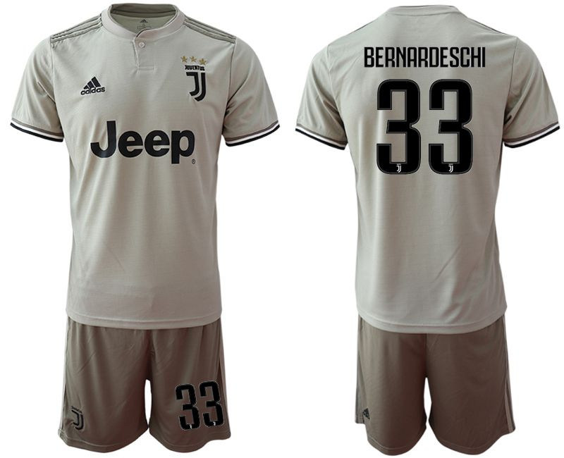 Men 2018-2019 club Juventus away 33 grey Soccer Jerseys