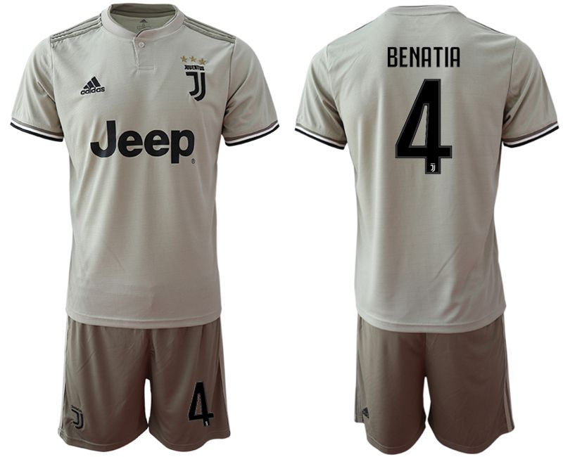 Men 2018-2019 club Juventus away 4 grey Soccer Jerseys