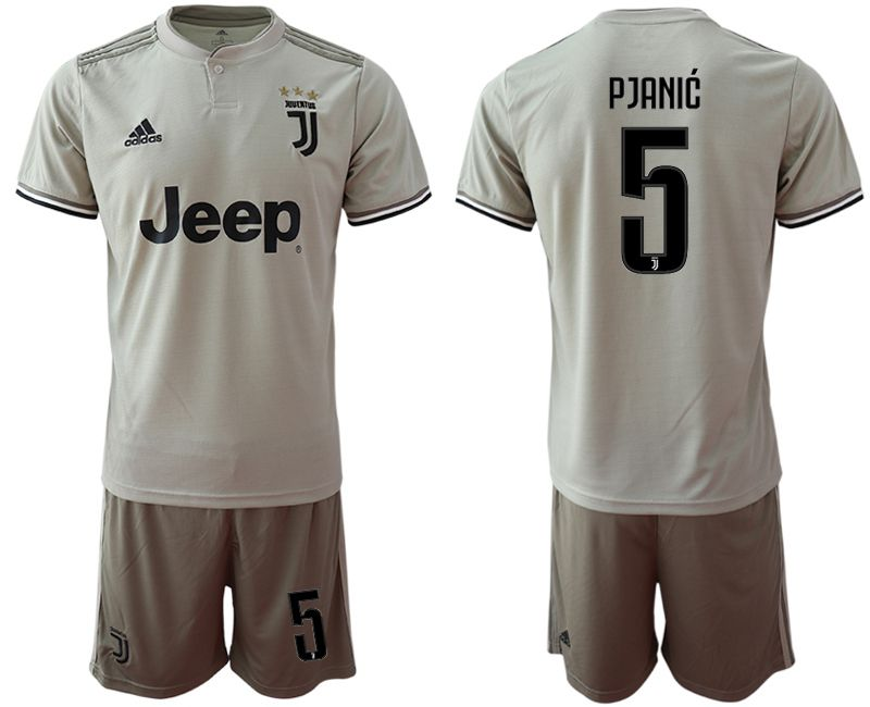 Men 2018-2019 club Juventus away 5 grey Soccer Jerseys