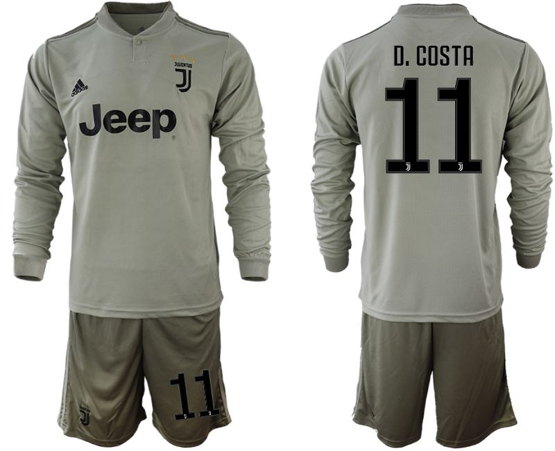 Men 2018-2019 club Juventus away Long sleeve 11 grey soccer jerseys