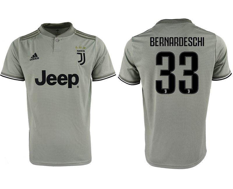 Men 2018-2019 club Juventus away aaa version 33 grey Soccer Jerseys