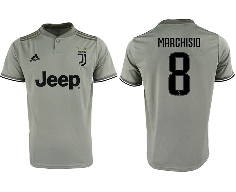 Men 2018-2019 club Juventus away aaa version 8 grey Soccer Jerseys