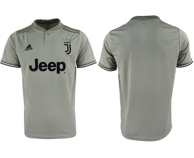 Men 2018-2019 club Juventus away aaa version blank grey Soccer Jerseys