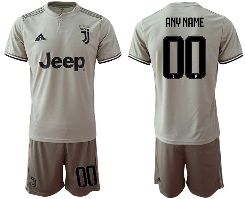 Men 2018-2019 club Juventus away customized grey Soccer Jerseys