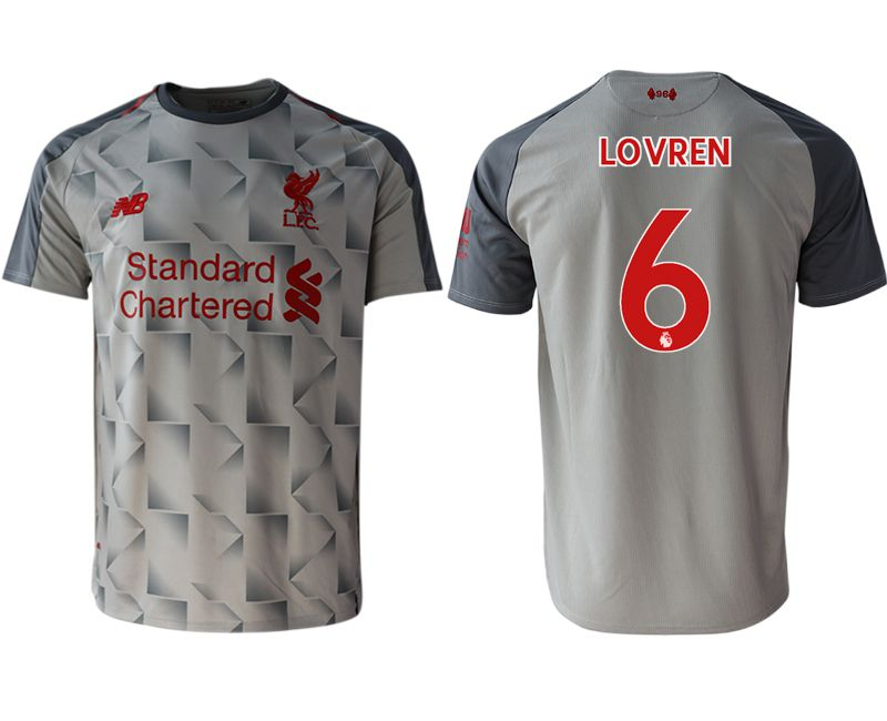 Men 2018-2019 club Liverpool Second away aaa version 6 grey Soccer Jerseys