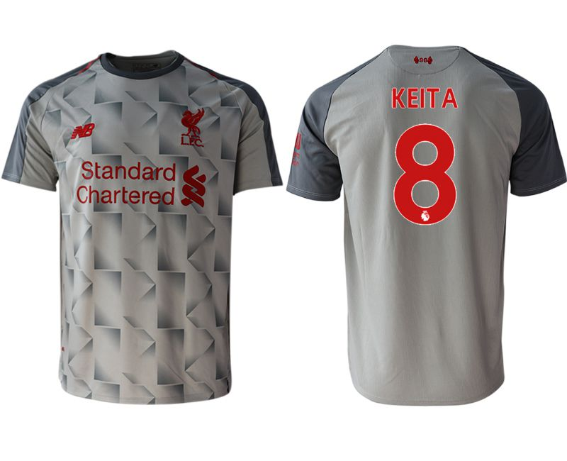 Men 2018-2019 club Liverpool Second away aaa version 8 grey Soccer Jerseys