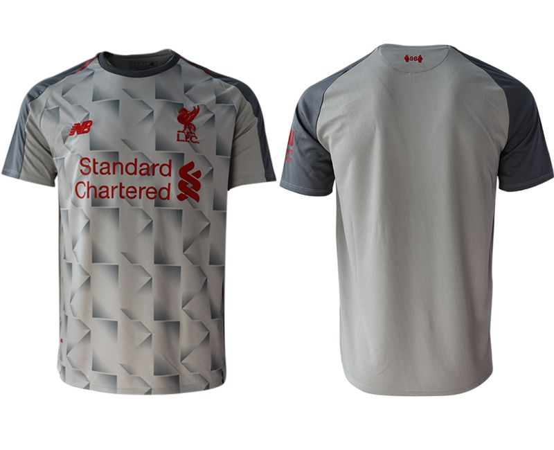 Men 2018-2019 club Liverpool Second away aaa version blank grey Soccer Jerseys