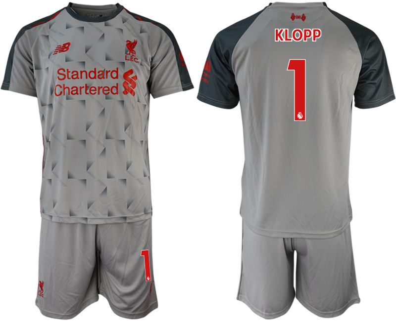 Men 2018-2019 club Liverpool away 1 grey soccer jersey