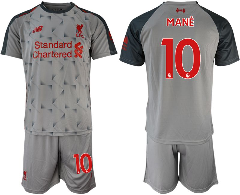 Men 2018-2019 club Liverpool away 10 grey soccer jersey