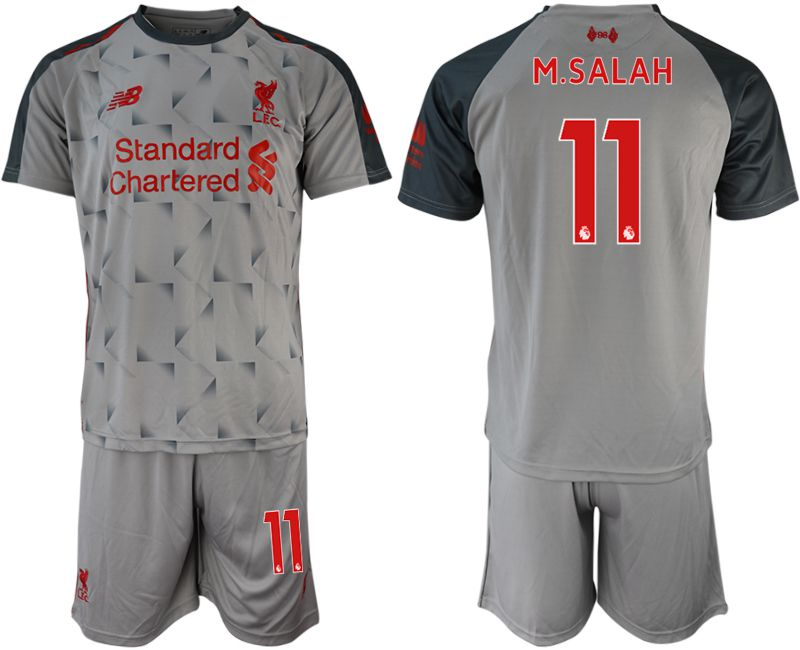 Men 2018-2019 club Liverpool away 11 grey soccer jersey