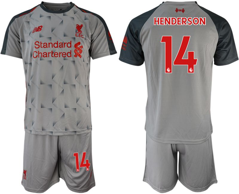 Men 2018-2019 club Liverpool away 14 grey soccer jersey