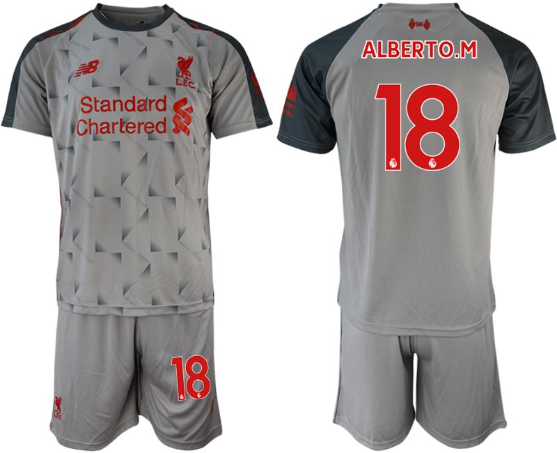 Men 2018-2019 club Liverpool away 18 grey soccer jersey
