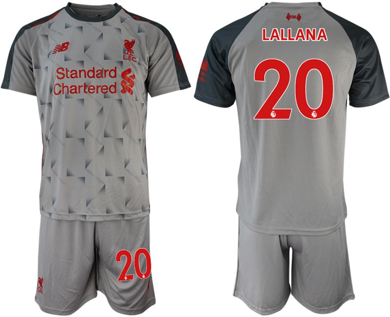 Men 2018-2019 club Liverpool away 20 grey soccer jersey