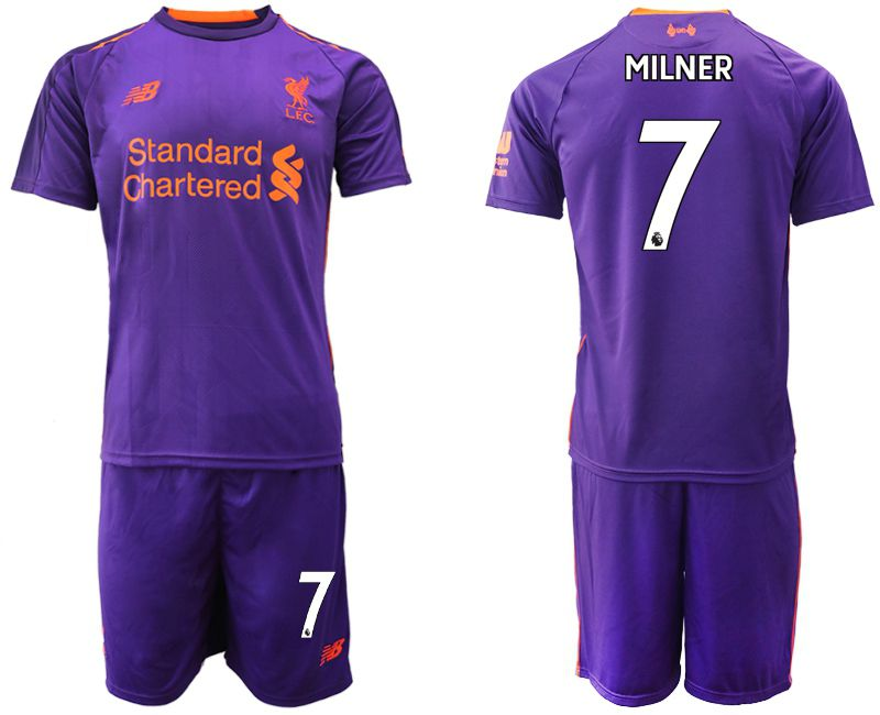 Men 2018-2019 club Liverpool away 7 purple Soccer Jerseys