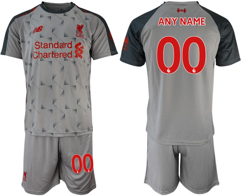 Men 2018-2019 club Liverpool away customized grey soccer jersey
