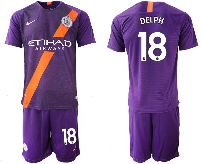 Men 2018-2019 club Manchester City away 18 purple soccer jersey