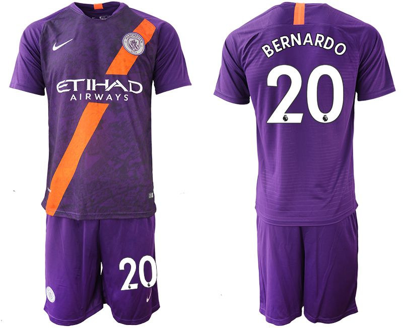 Men 2018-2019 club Manchester City away 20 purple soccer jersey