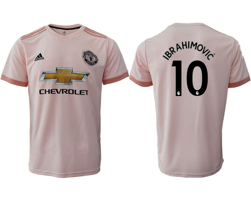 Men 2018-2019 club Manchester United away aaa version 10 pink soccer jersey1