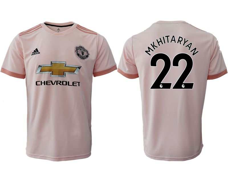 Men 2018-2019 club Manchester United away aaa version 22 pink soccer jersey