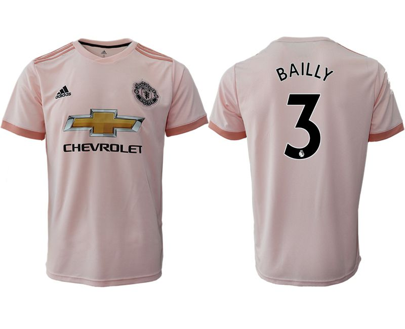 Men 2018-2019 club Manchester United away aaa version 3 pink soccer jersey