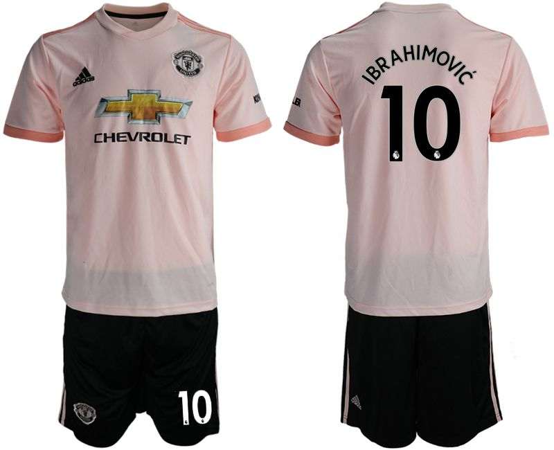 Men 2018-2019 club Manchester united away 10 pink soccer jersey1