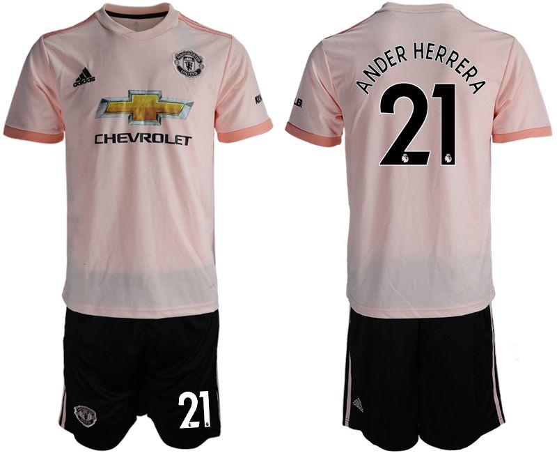 Men 2018-2019 club Manchester united away 21 pink soccer jersey