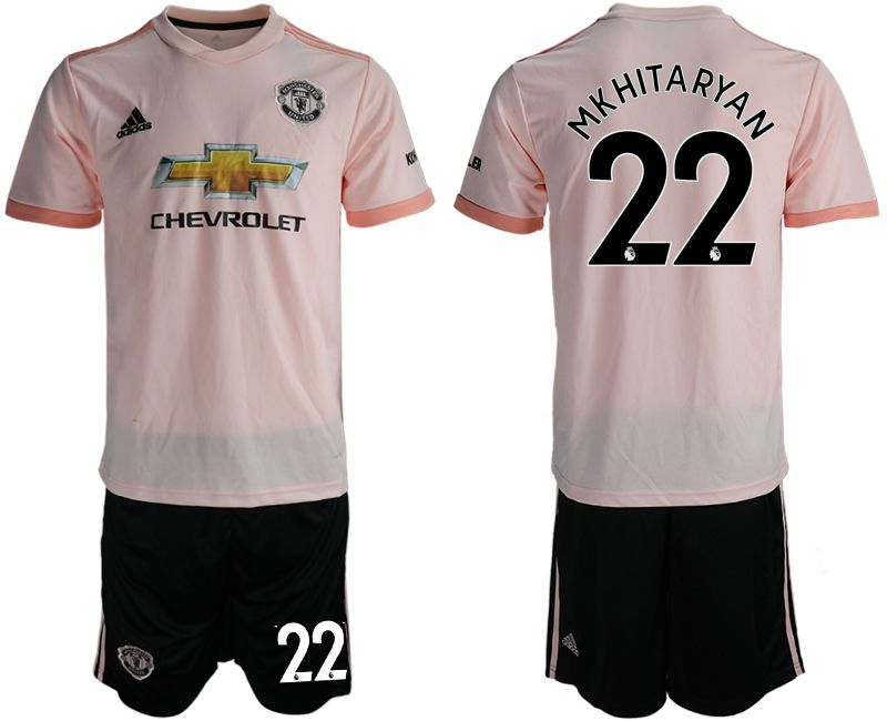 Men 2018-2019 club Manchester united away 22 pink soccer jersey