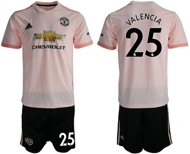 Men 2018-2019 club Manchester united away 25 pink soccer jersey