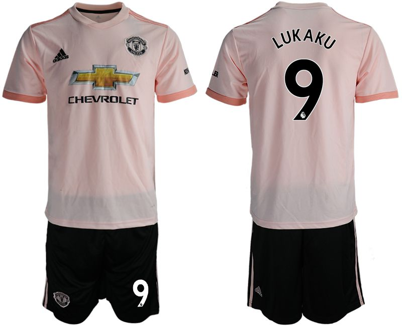Men 2018-2019 club Manchester united away 9 pink soccer jersey