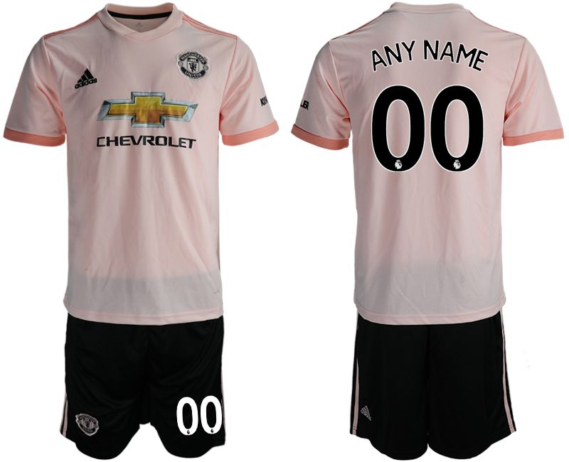 Men 2018-2019 club Manchester united away customized pink soccer jersey
