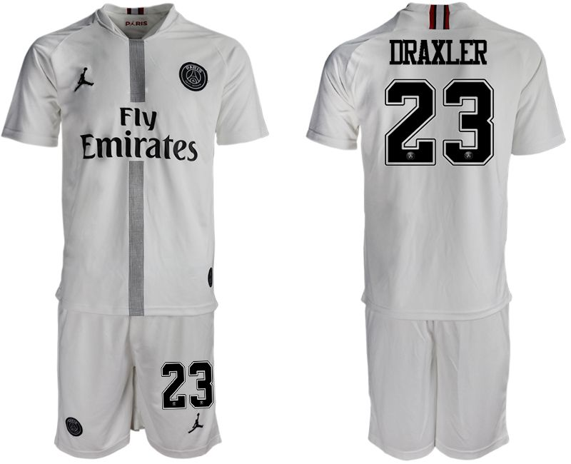 2aaab2a6a20 Men 2018-2019 club Paris Saint Germain Jordan away 23 white soccer jerseys