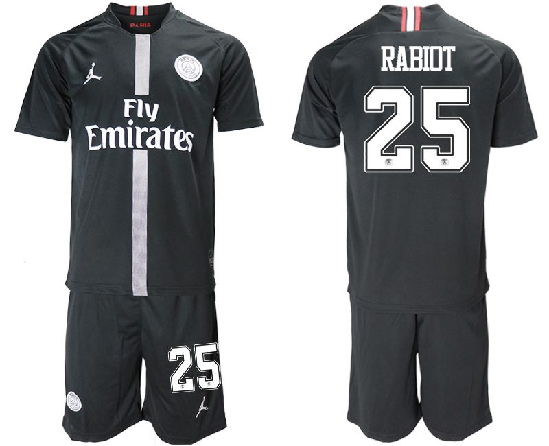 Men 2018-2019 club Paris Saint Germain Jordan home 25 black soccer jerseys