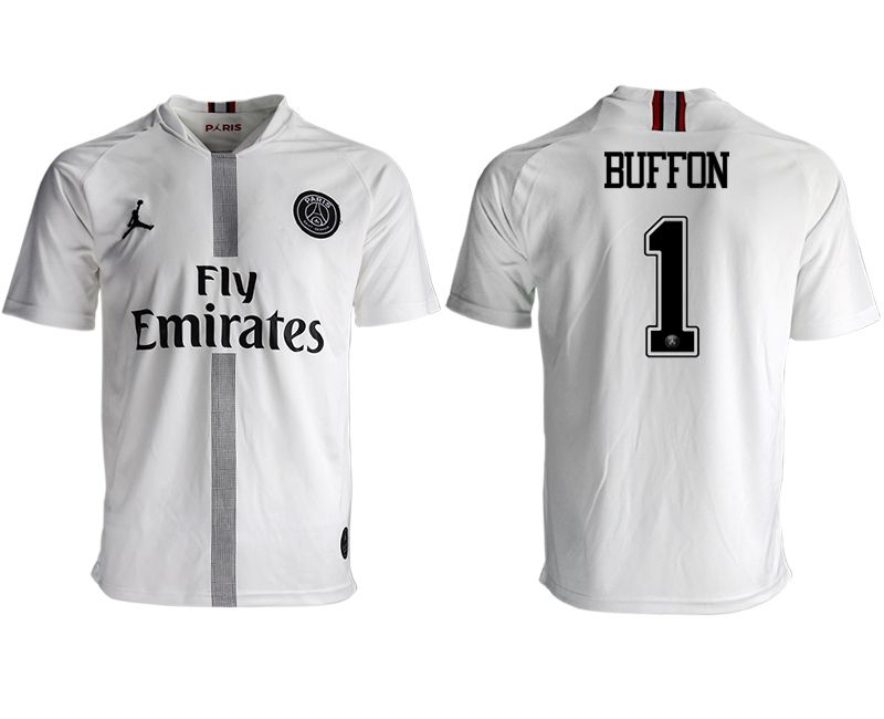 Men 2018-2019 club Paris St German aaa version away 1 white soccer jersey