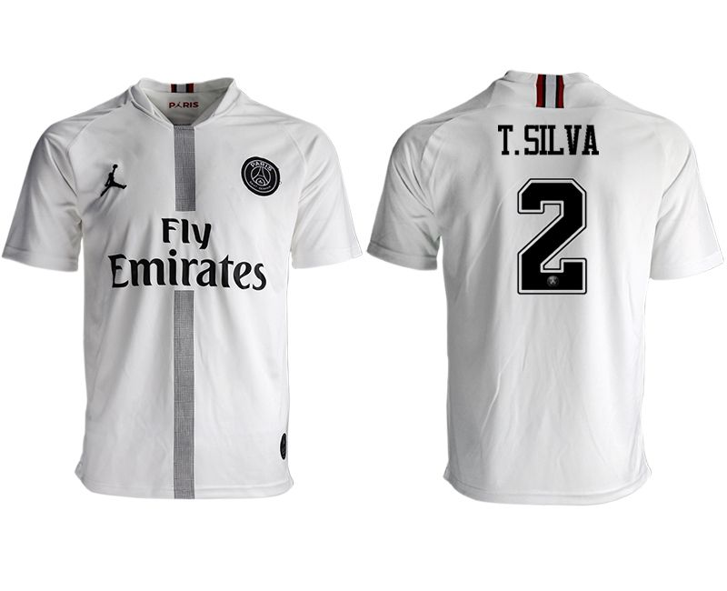 Men 2018-2019 club Paris St German aaa version away 2 white soccer jersey