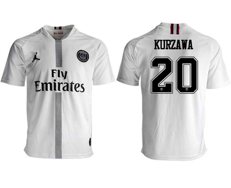 Men 2018-2019 club Paris St German aaa version away 20 white soccer jersey