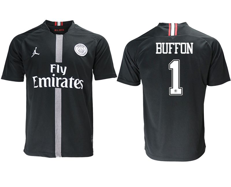 Men 2018-2019 club Paris St German aaa version home 1 black soccer jersey