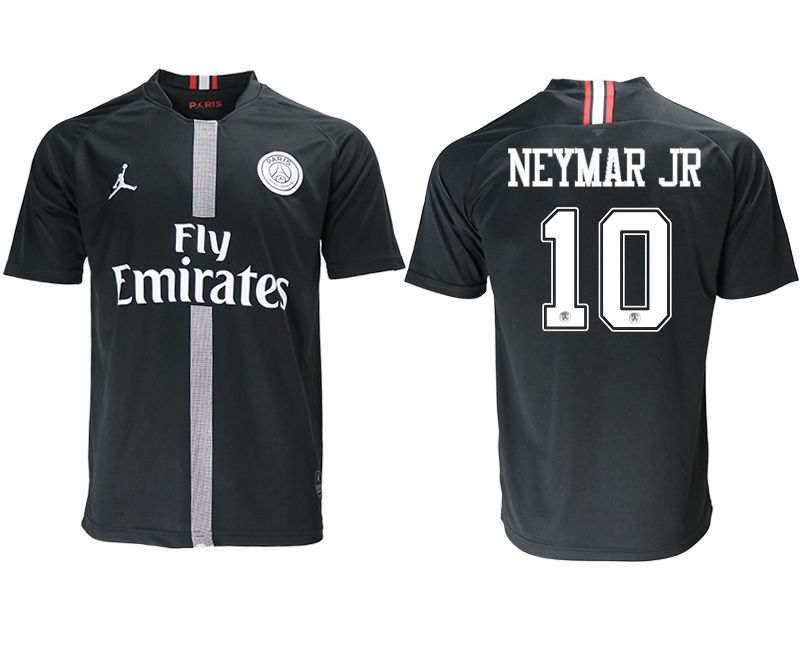 Men 2018-2019 club Paris St German aaa version home 10 black soccer jersey