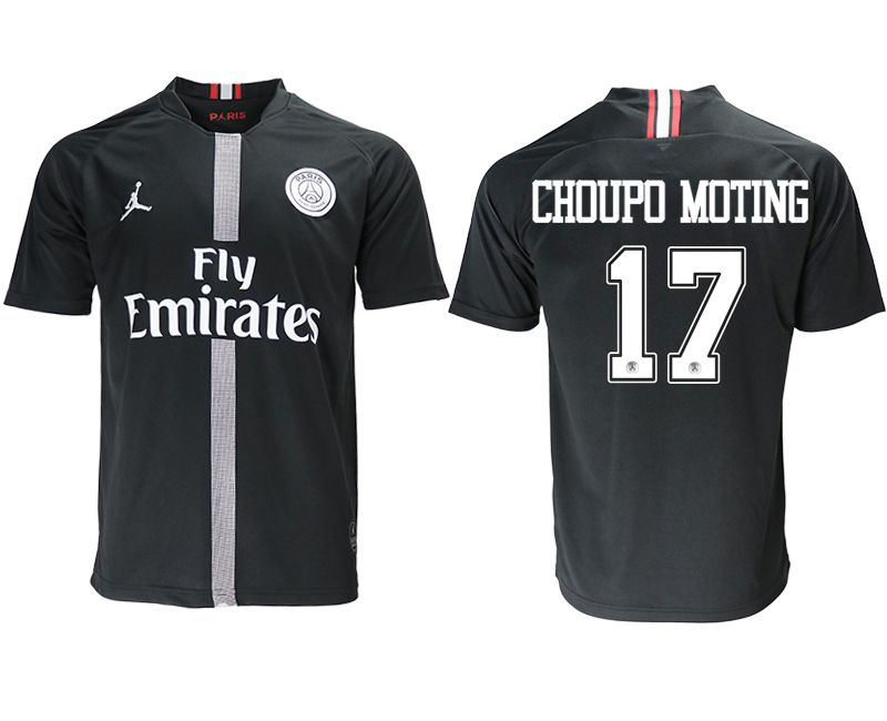 Men 2018-2019 club Paris St German aaa version home 17 black soccer jersey
