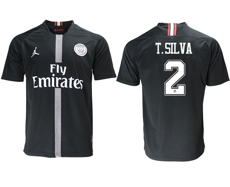 Men 2018-2019 club Paris St German aaa version home 2 black soccer jersey
