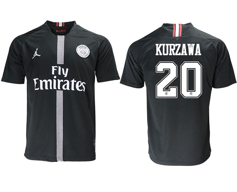Men 2018-2019 club Paris St German aaa version home 20 black soccer jersey