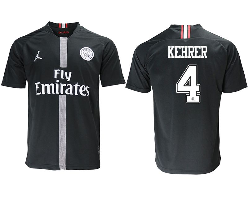 Men 2018-2019 club Paris St German aaa version home 4 black soccer jersey