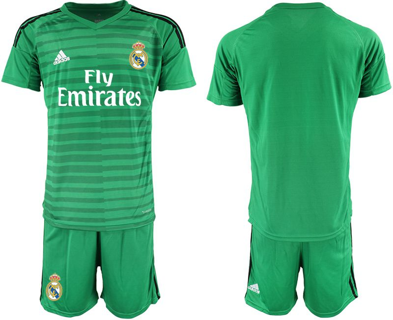 Men 2018-2019 club Real Madrid Goalkeeper blank green soccer jersey