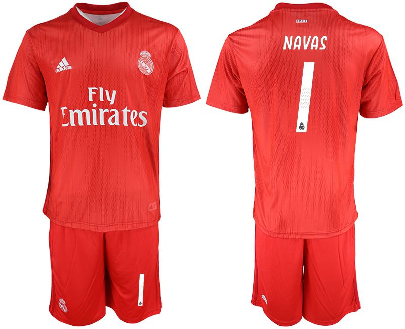 Men 2018-2019 club Real Madrid Second away 1 red soccer jersey