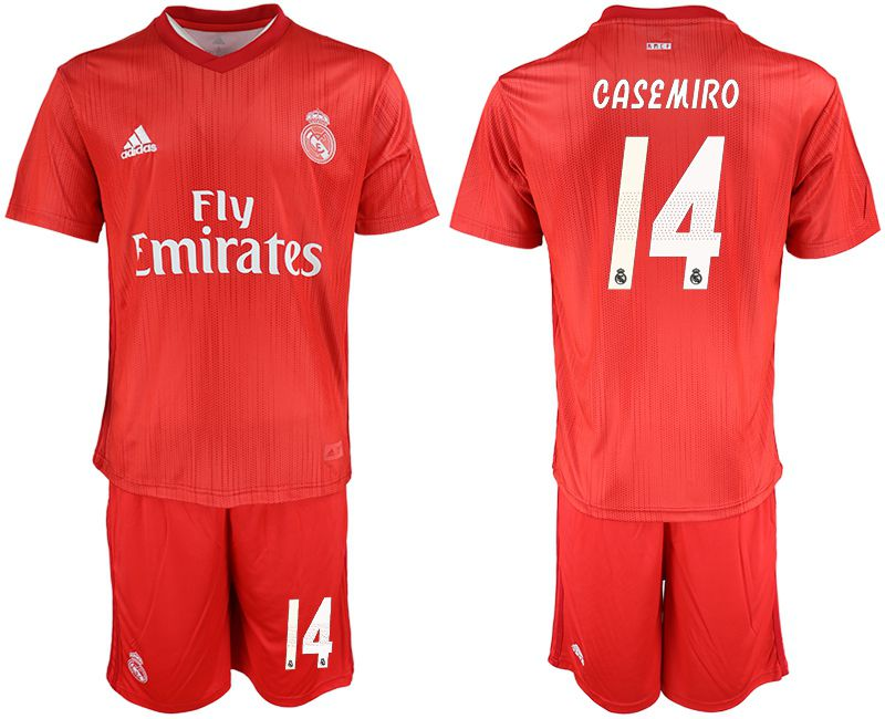 Men 2018-2019 club Real Madrid Second away 14 red soccer jersey