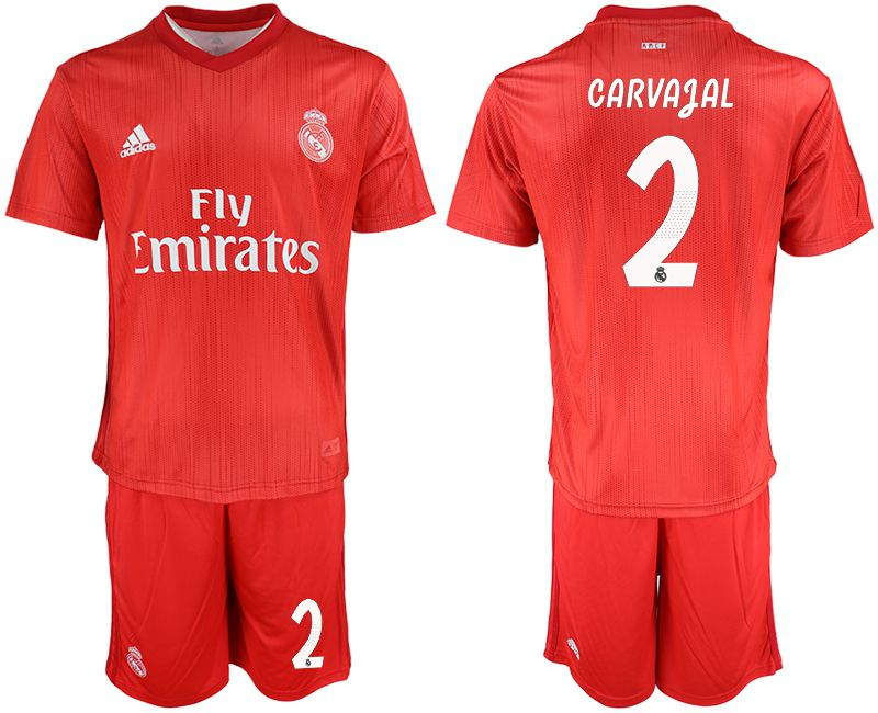 Men 2018-2019 club Real Madrid Second away 2 red soccer jersey