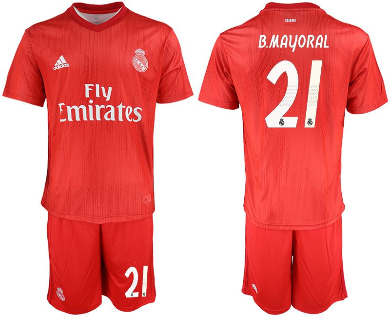 Men 2018-2019 club Real Madrid Second away 21 red soccer jersey